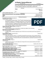 teaching resume 2017