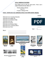 Mackinac Bridge Poster Order Form