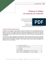Guide Preparer Et Rediger Un Memoire de Recherche