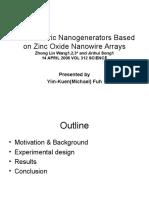 (1) Nanogenerators Fuh