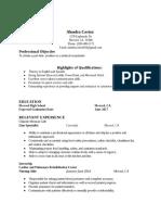 resume medical receptionist - google docs