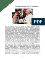 EL EXTRAÑO PONTIFICADO DEL PAPA FRANCISCO .doc