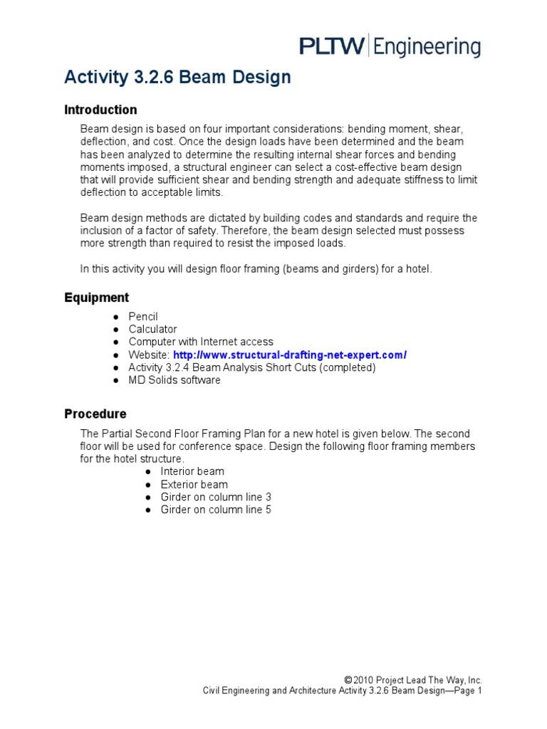 3 2 6 abeamdesign docx | Beam (Structure) | Framing