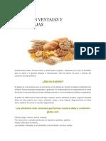 Ventajas y Desventajas del Gluten