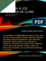 Alergias a los cambios de clima