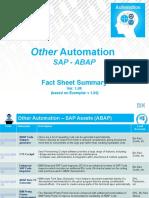 Fact Sheet Summary - OA-SAP-ABAP-00 v1.09