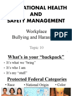 Lecture 10-Workplace Bullying