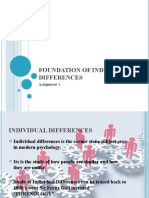 Foundation of Individual Differences