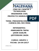 Cuenca Rio Mira Informe