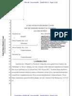 Facebook v. Power Ventures - Order Denying Motion for Judgment on the Pleadings