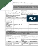 davis dan action evaluation plan