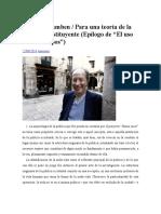 Giorgio Agamben Cuerpo Potencia