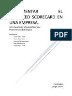 Balanced Scorecard Empresa de Construccion