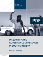 Insecurity and Governance Challenges in Southern Libya