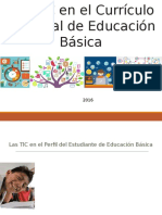 Las TIC en el curriculo de la educacion basica
