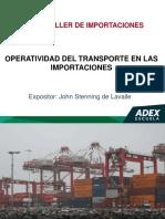 Operatividad Del Transporte en Las Importaciones