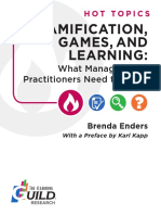 Gamification and Learning