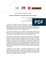 Nota Pública Das Pastorais Do Campos