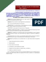 REGLAMENTO PARA TERMINALES INTERIORES  DE CARGA