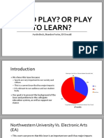 semester long project presentation
