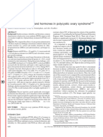 Relation of nutrients and hormones in polycystic ovary syndrome