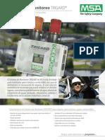 Hoja de Datos Sistema de Deteccion de Gas MSA - Sistema de Monitoreo Trigard Para O2 Toxicos y Gases Combustibles - ES