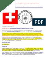 28-12-2014-La CIA Située Dans La Suisse Neutre, Seul Pays Sur Terre Sans Guerre Ni Attaque Terroriste