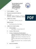 Huron Township Board of Trustees - 26 Apr 2017 - Agenda - PDF