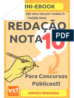 Mini eBook Redacao Nota 10