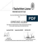 student teaching license