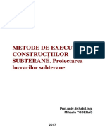 Metode de Executie a Constructiilor Subterane 2017
