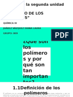 """Trabajo de la segunda unidad  """"EL MUNDO DE LOS POLÍMEROS"""""""
