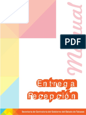 Manual Ent Recep Edo De Tabasco Administración Pública