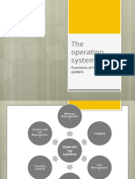 function of the operating system  os