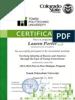 p2p certificate