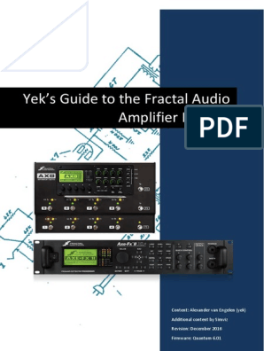 Yeks Guide to the Fractal Audio Amp Models | Analog Circuits