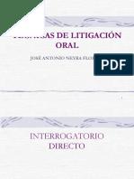 TECNICAS+DE+LITIGACION+ORAL+Interrogatorio+y+containterrogatorio