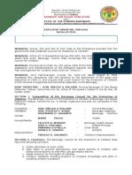 BCPC Executive Order 008-2016