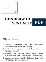 Gender & Human Sexuality
