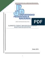 Elementos Teorico Metodologicos de La Investigacion Educativa