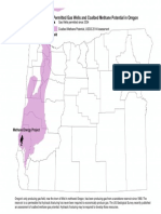 Permitted Gas Well and Coalbed Methane Potential in Oregon