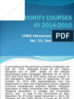 CHED Priority Courses