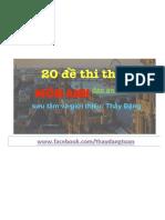 20 Đề Thi Thử Tiếng Anh Thi Thptqg Giải Chi Tiết (1)