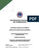 Sílabo Primero a Derecho 2017