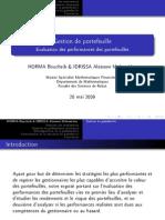 Evaluation Des Performances Des Portefeuilles