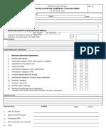 PH-TE-CU- 01 Formato de Revision de Procedimientos Constructivo