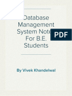 Database Management System(DBMS) Notes