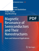 Magnetic Resonance of Semiconductors and Their Nanostructures Basic and Advanced Applications