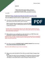 project 4 strategy sheet 2016