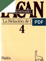 El Seminario 4. La Relación de Objeto
